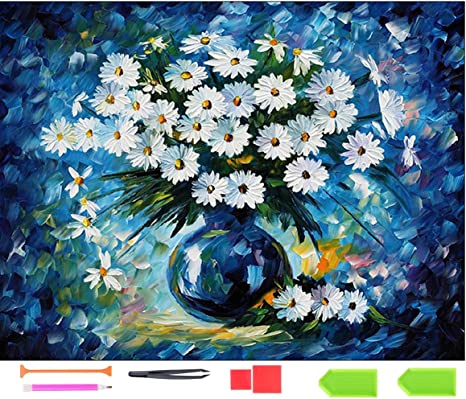 Diamond Drawing Kits 30 x 30 cm DIY 5D Full Drill Round Diamond Rose Flower Diamond Diamond Painting Drawing Canvas Rhinestone Cross Stitch Canvas Craft Stil 1 20x30CM