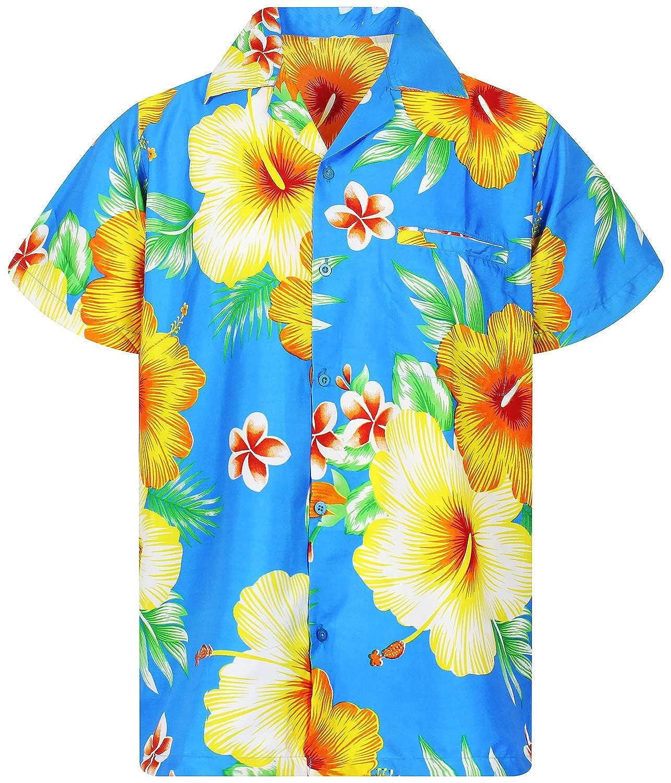 Funky Hawaiihemd Kurzarm Ananas Türkis