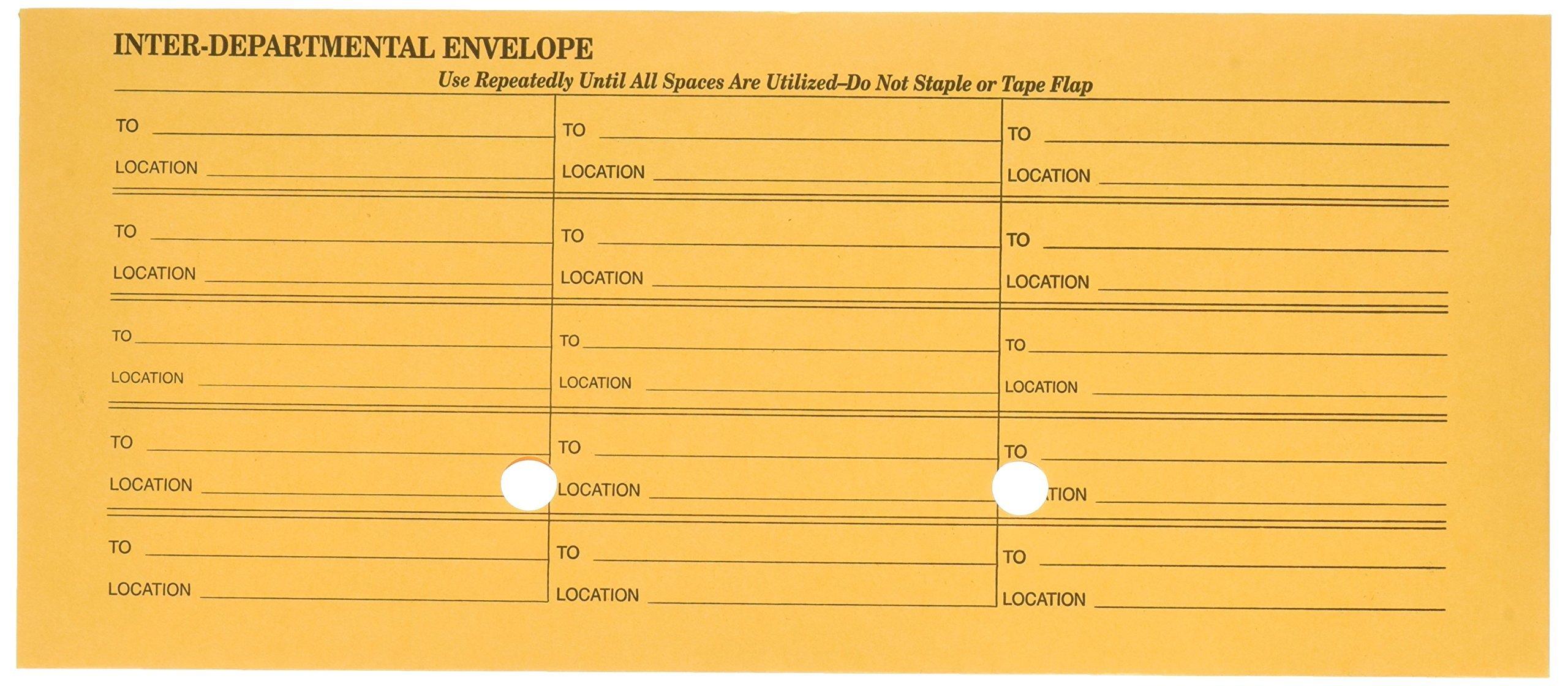 Quality Park Interoffice Envelopes, Ungummed, Brown Kraft, 4.5 x 10.375, 500 per Box, (63262) by Quality Park