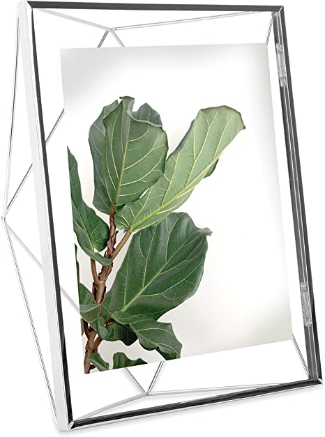 Amazon Com Umbra Prisma Picture Frame 8x10 Photo Display For Desk Or Wall Chrome
