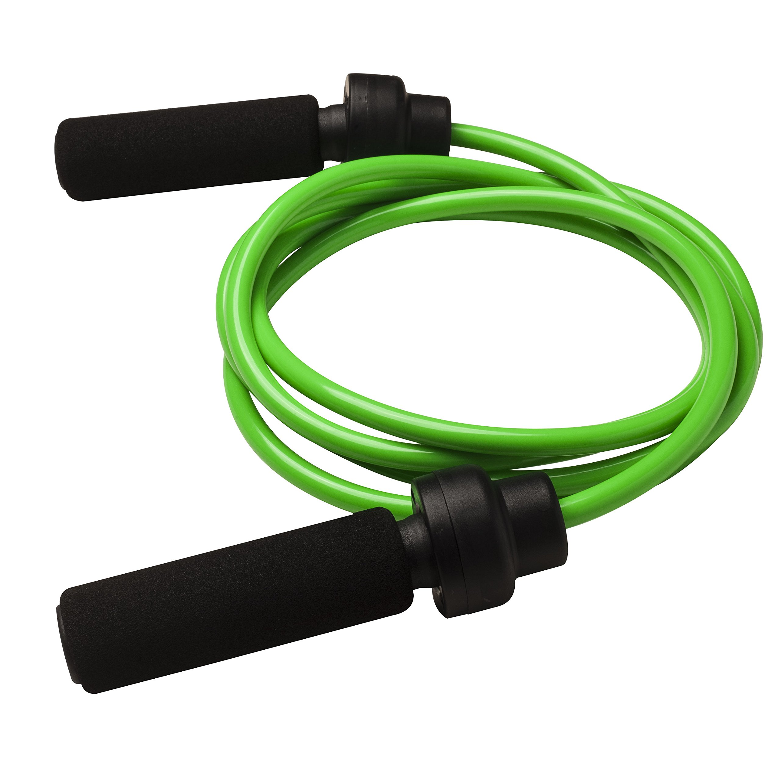 Champion Sports Weighted Jump Rope (Green, 1 Lbs)