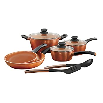 Gibson Cuisine 79577.10 Eco-Friendly Copper Cookware set