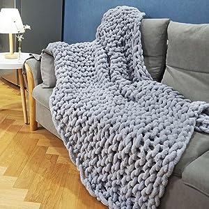 Chunky Knit Blanket Throw(60