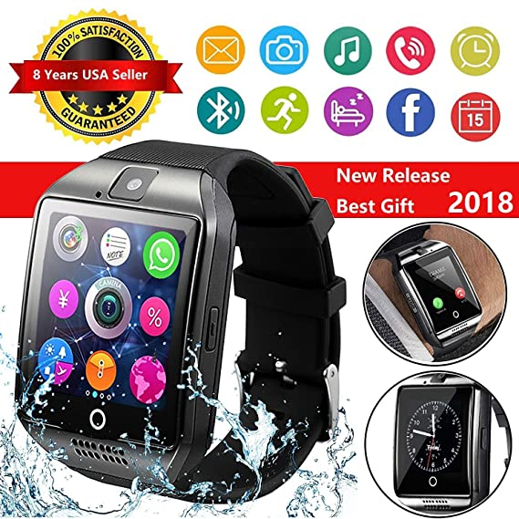 CNPGD [US Warranty] Multi-function Smartwatch + Watch Cell Phone Black for iPhone, Android, Samsung, Galaxy Note, Nexus, HTC, Sony