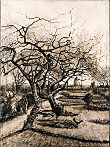Berkin Arts Vincent Van Gogh Giclee Art Paper Print Art Works Paintings Poster Reproduction(The Parsonage Garden at Nuenen in Winter) #XZZ