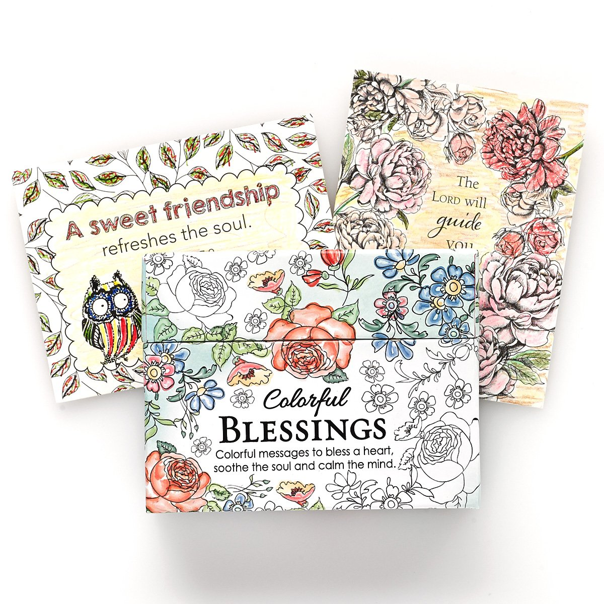 amazon com colorful blessings cards to color and share