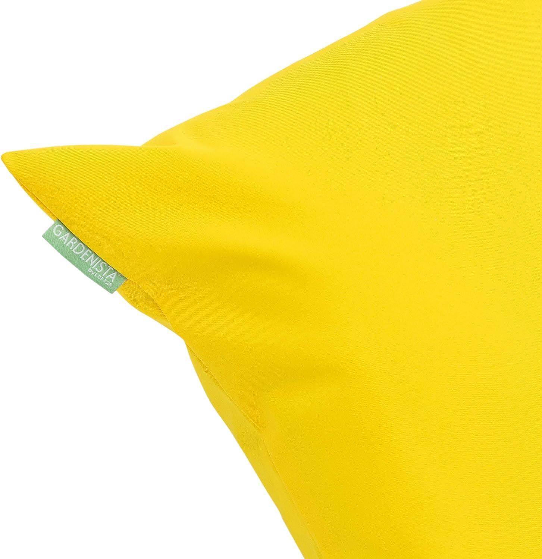 Cuscino impermeabile da esterni imbottito 46/cm in giallo confezione da  pezzi