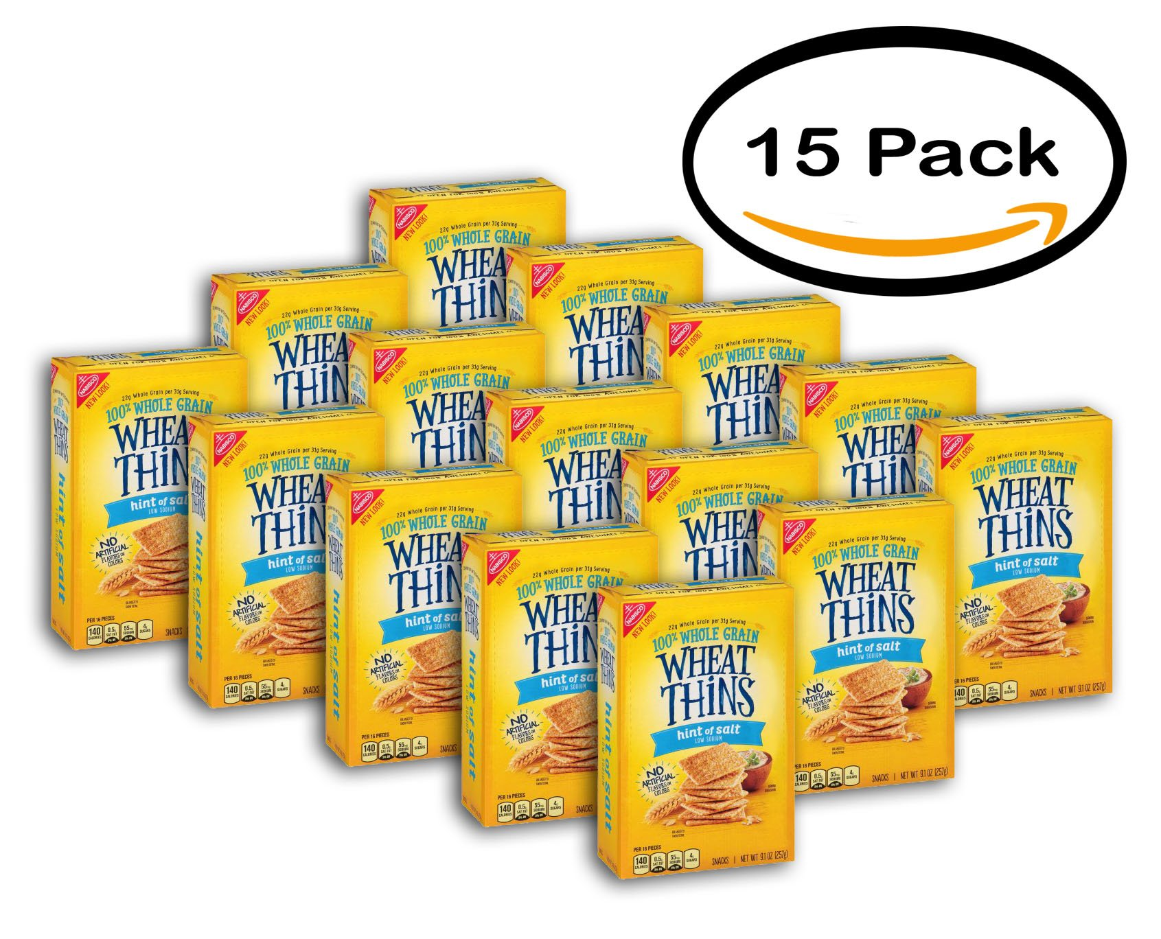 PACK OF 15 - Nabisco Wheat Thins Snacks, 9.1 OZ by Wheat Thins