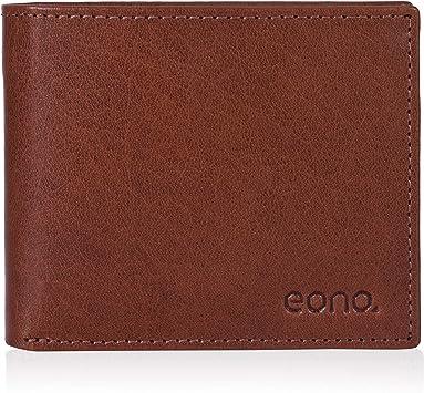Design Plat avec Fonction de Protection Contre la Lecture RFID Eono par  Portefeuille en Cuir pour Hommes et Femmes Cuir Marron Vintage//doccasion