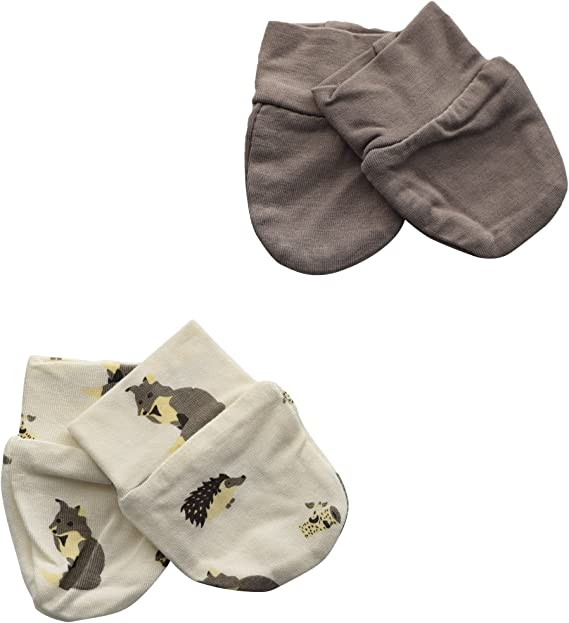 2 Pack Kyte BABY Unisex-Baby 0-6 months Scratch Mittens Bamboo Petal//Mythical