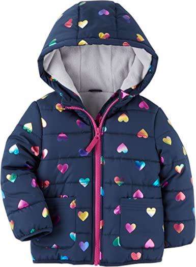 Toddler Boy Winter Jacket Coat Warm Hooded 2t Carters Navy//yellow Euc