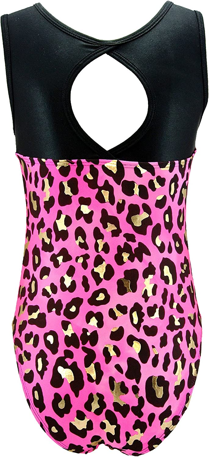 MadSportsStuff Girls Gymnastics Leotard multiple prints available youth and teen sizes kids