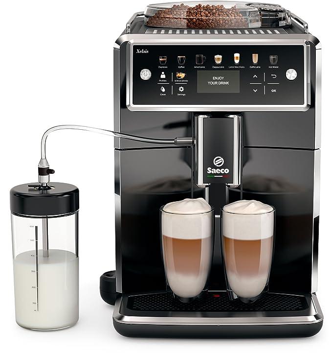 Saeco sm7580/00 Xelsis - Cafetera automática, pantalla LED con teclas de marcación directa, hygie de Steam, 1.7 L, color negro: Amazon.es: Hogar