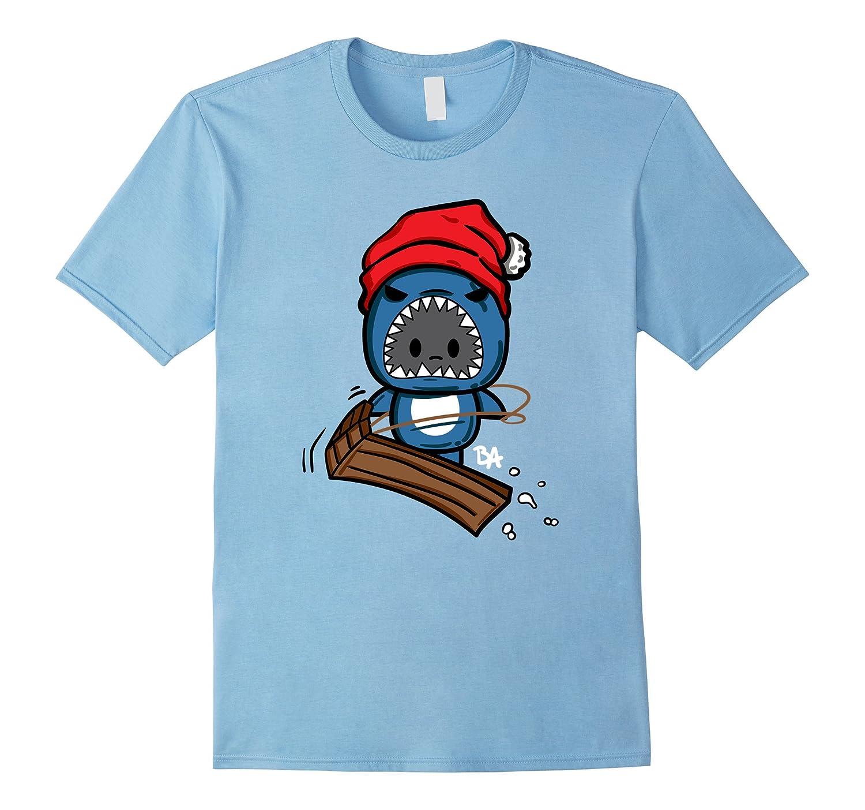Chomp Shark Winter Sled Tshirt-FL