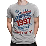 Buzz Shirts 21 Years of Being Awesome Mens 21st T-Shirt Class of 1997 Birthday Gift Aged to Perfection