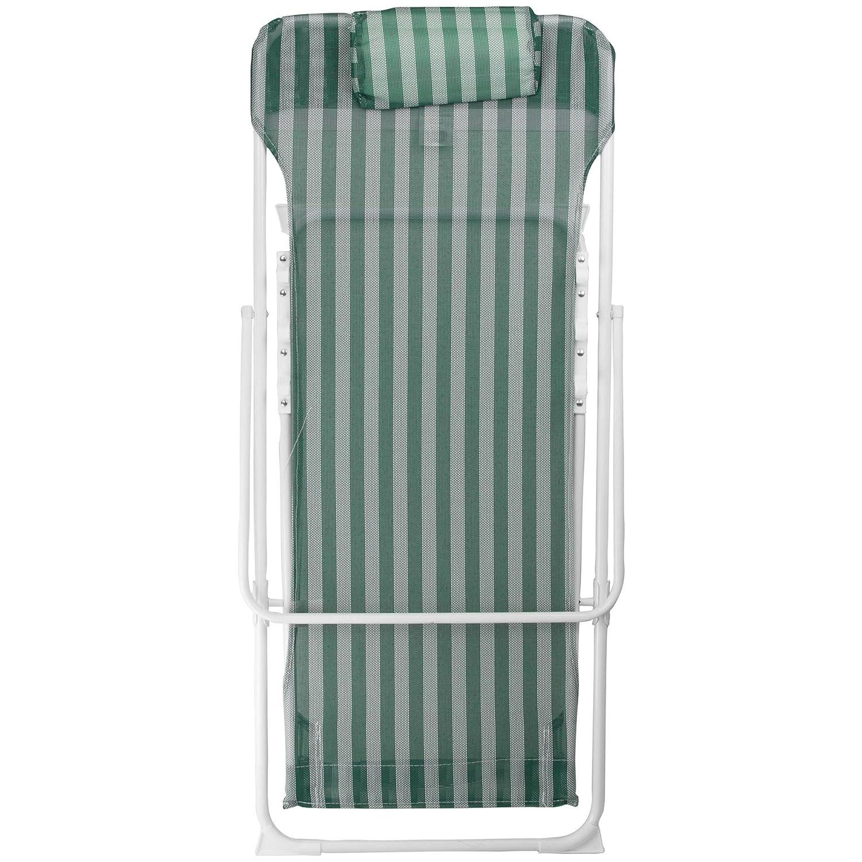 a Righe Blu//Bianche in Metallo 3 Posizioni Harbour Housewares Set da 2 Sedia a Sdraio da Giardino