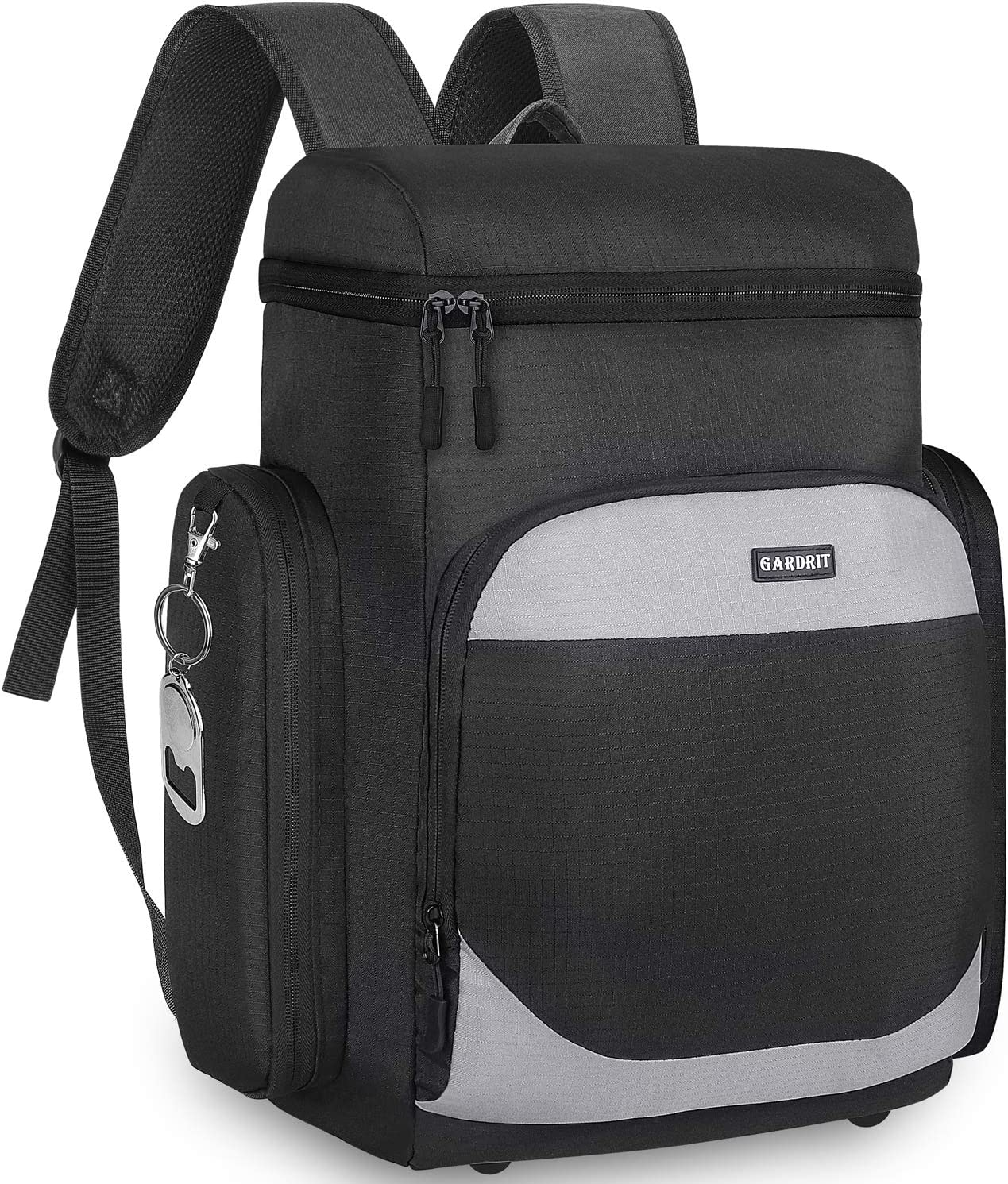 GARDRIT Insulated Cooler Backpack - Multi-Pocket Leakproof Spacious Lightweight Soft Cooler Bag Backpack Cooler for Men/Women to Work Beach Picnic Travel Trips (35 Cans)