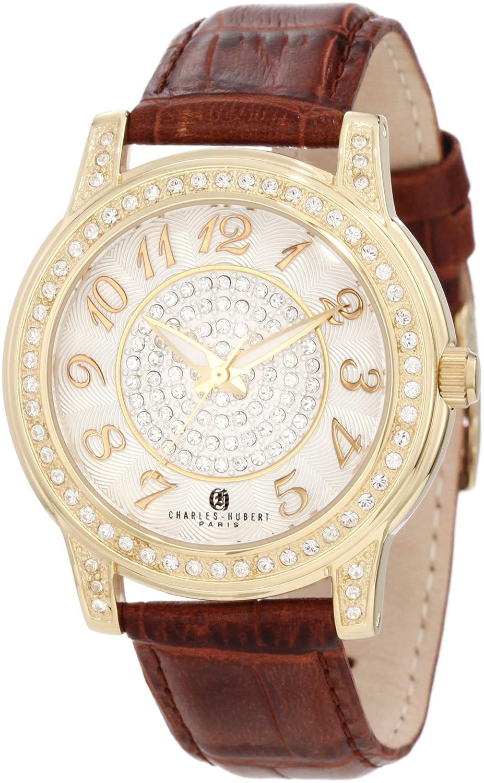 Damen Charles - Hubert Swarovski Crystal Bezel Armbanduhr GLD-PLATED