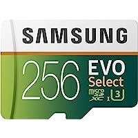 Samsung EVO Select 256 GB microSD 100 MB/s, Velocidad, Full HD & 4K UHD, Tarjeta de Memoria Incluye Adaptador SD para…