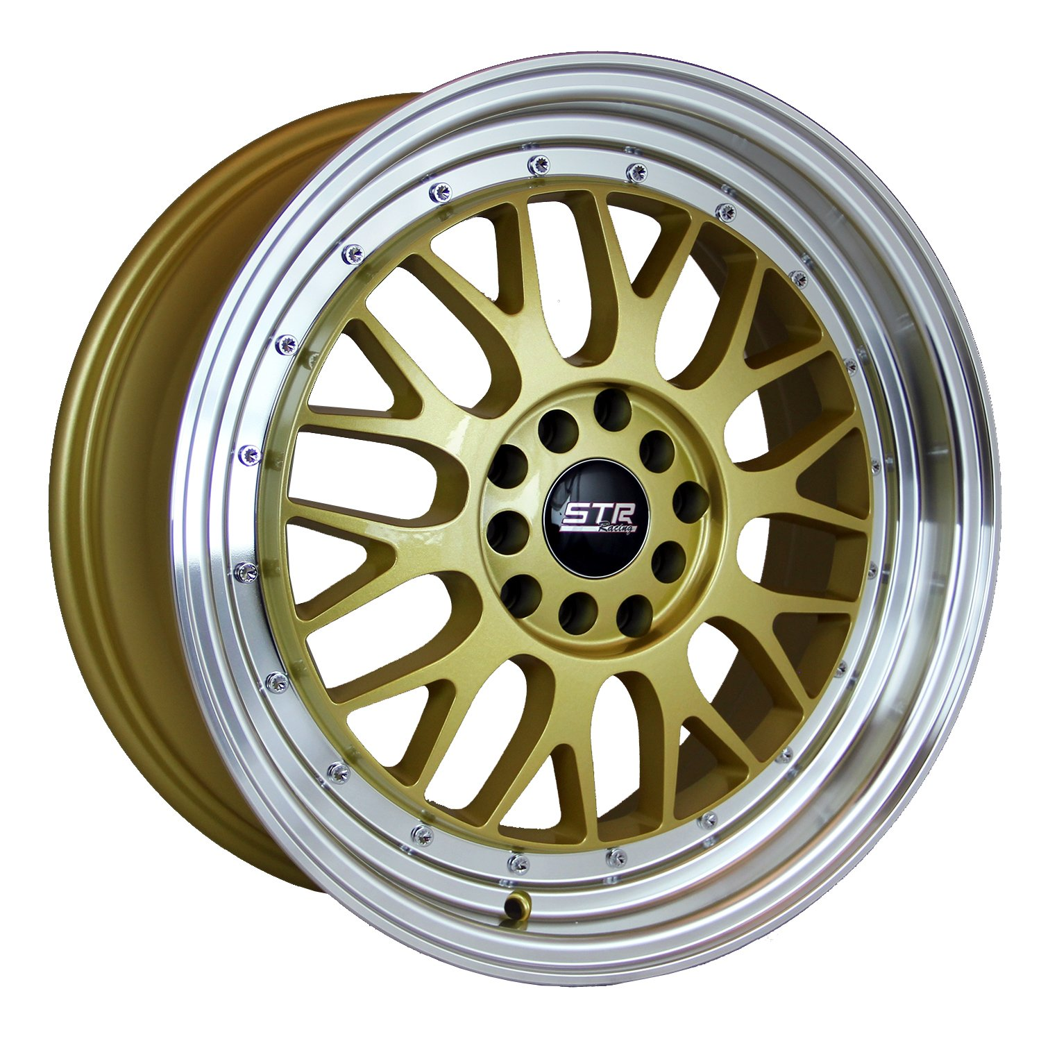 "STR Racing STR601 Gold Wheel with Machined lip (20x10.5""/5x115mm, +20 offset)"