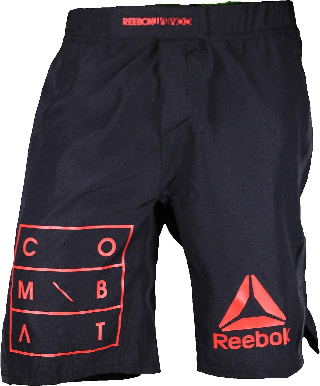 Reebok UFC Mens Black Speedwick Performance MMA Hero Training Shorts S99251