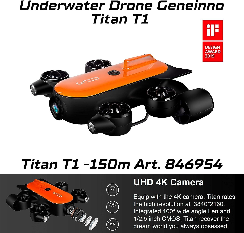 Geneinno Drone Submarino Con Rendimiento Potente Titan 150 Metros