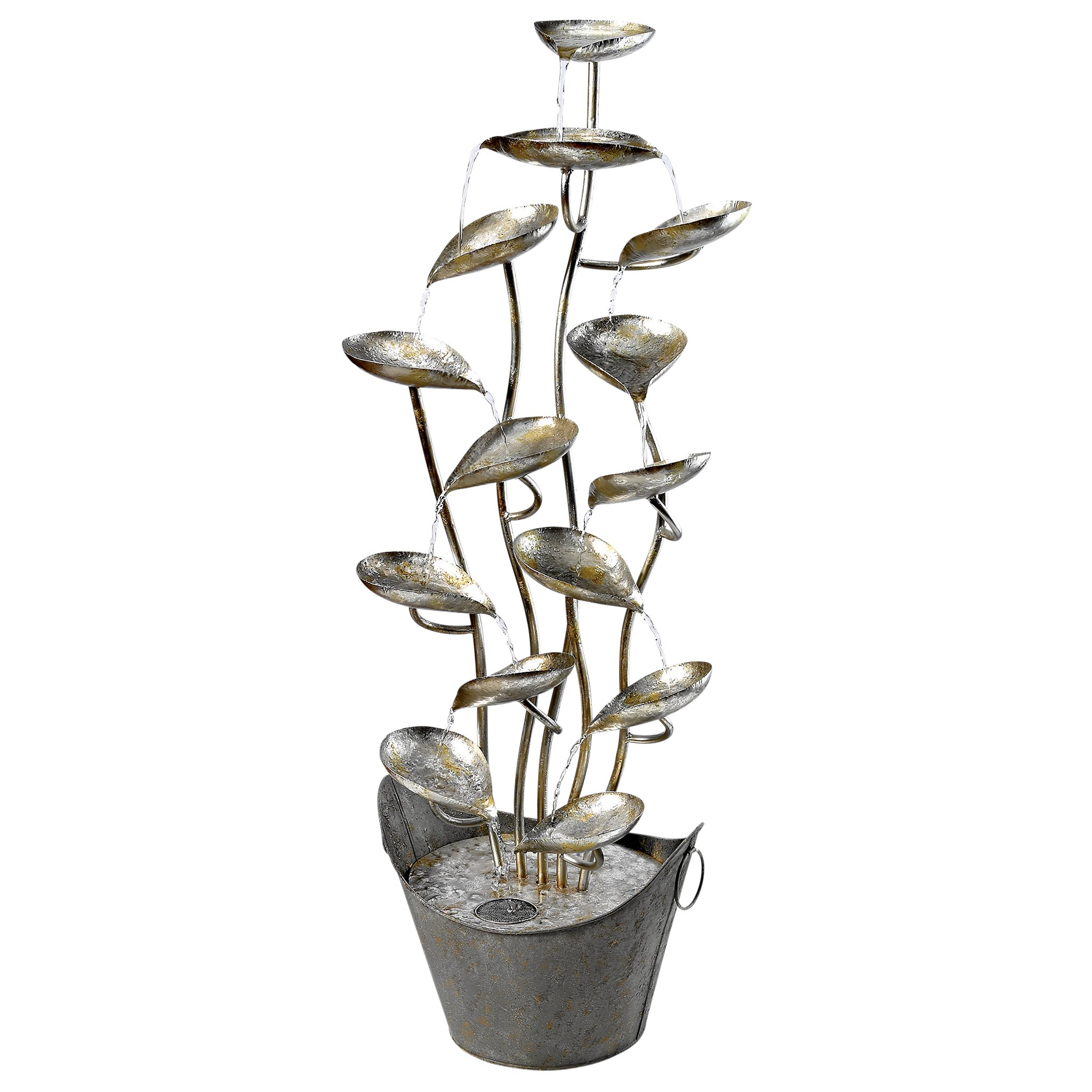 Design Toscano Rain Forest Leaves Cascading Metal Fountain by Design Toscano