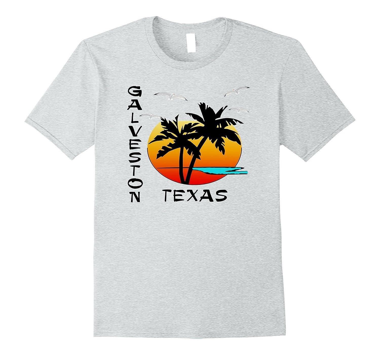 TROPICAL GALVESTON TEXAS ISLAND BEACH VACATION GIFT T-SHIRT