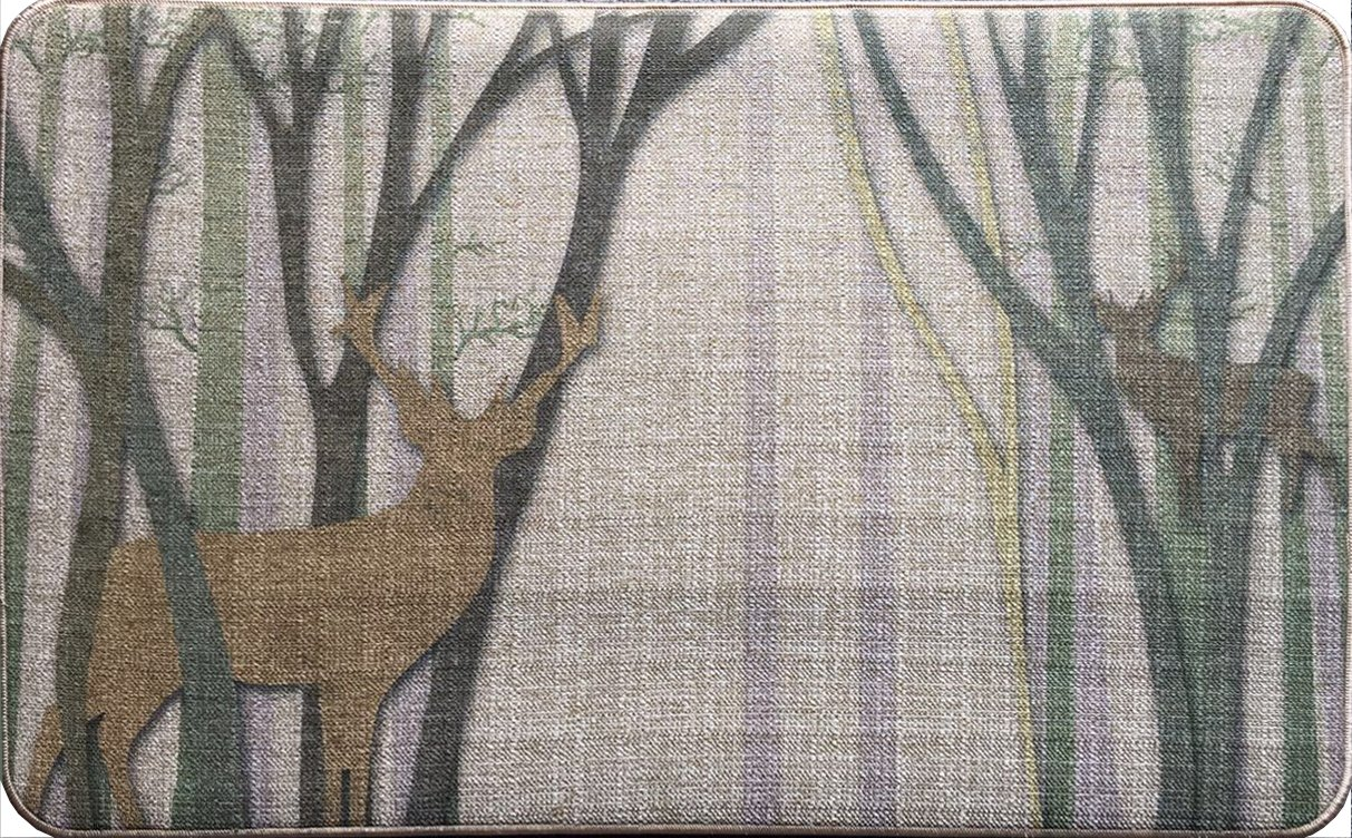Alsomtec fiber with Rubber Backed Mat Slip Rug for Outdoor,Indoor –doormat for Kitchen,Dining,Living,Hallway ,Bathroom ,Pet Entry Rugs -with various pattern (elk)