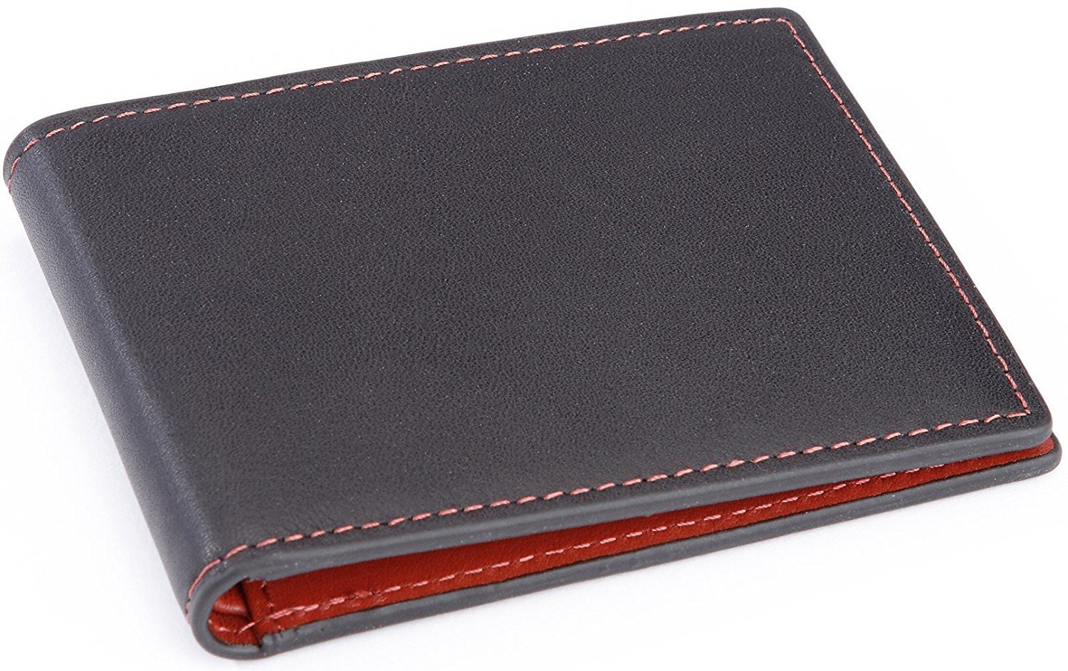 Royce Leather Men's 100 Step Slim Bifold Wallet Leather, Rfid Blocking Technology, Red