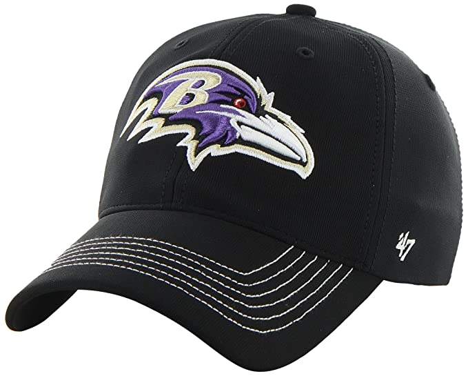 buy popular 60d76 14cf0 NFL Baltimore Ravens  47 Brand Game Time Closer Stretch Fit Hat, Black, One