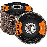 Flap Discs, Tacklife PAFD1A 10 pcs Aluminum Oxide Polishing Flap Discs 115 * 22.23mm T27 80 Grit Sanding Flap Discs for Angle Grinder