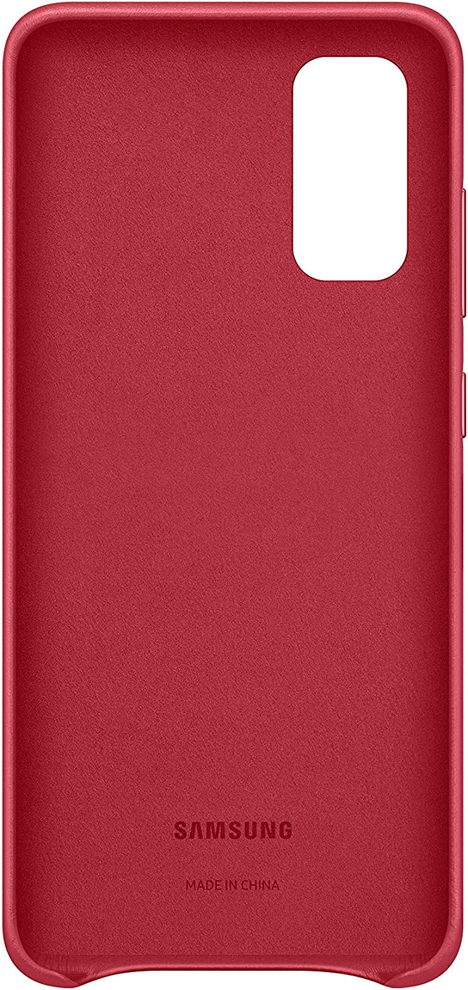 Samsung Leather Smartphone Cover Ef Vg980 For Galaxy S20 S20 5g Mobile Phone Case Genuine Leather Protective Case Shockproof Premium Red Elektronik