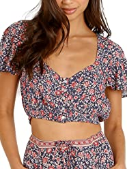 0cb326d67 Spell & The Gypsy Jasmine Cropped Top Navy