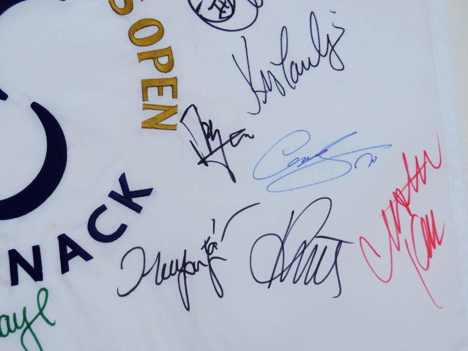 2013 US Womens Open Autographed Golf Flag (LPGA) Nordqvist, Kim, Pressel, Kerr, Yang, etc.