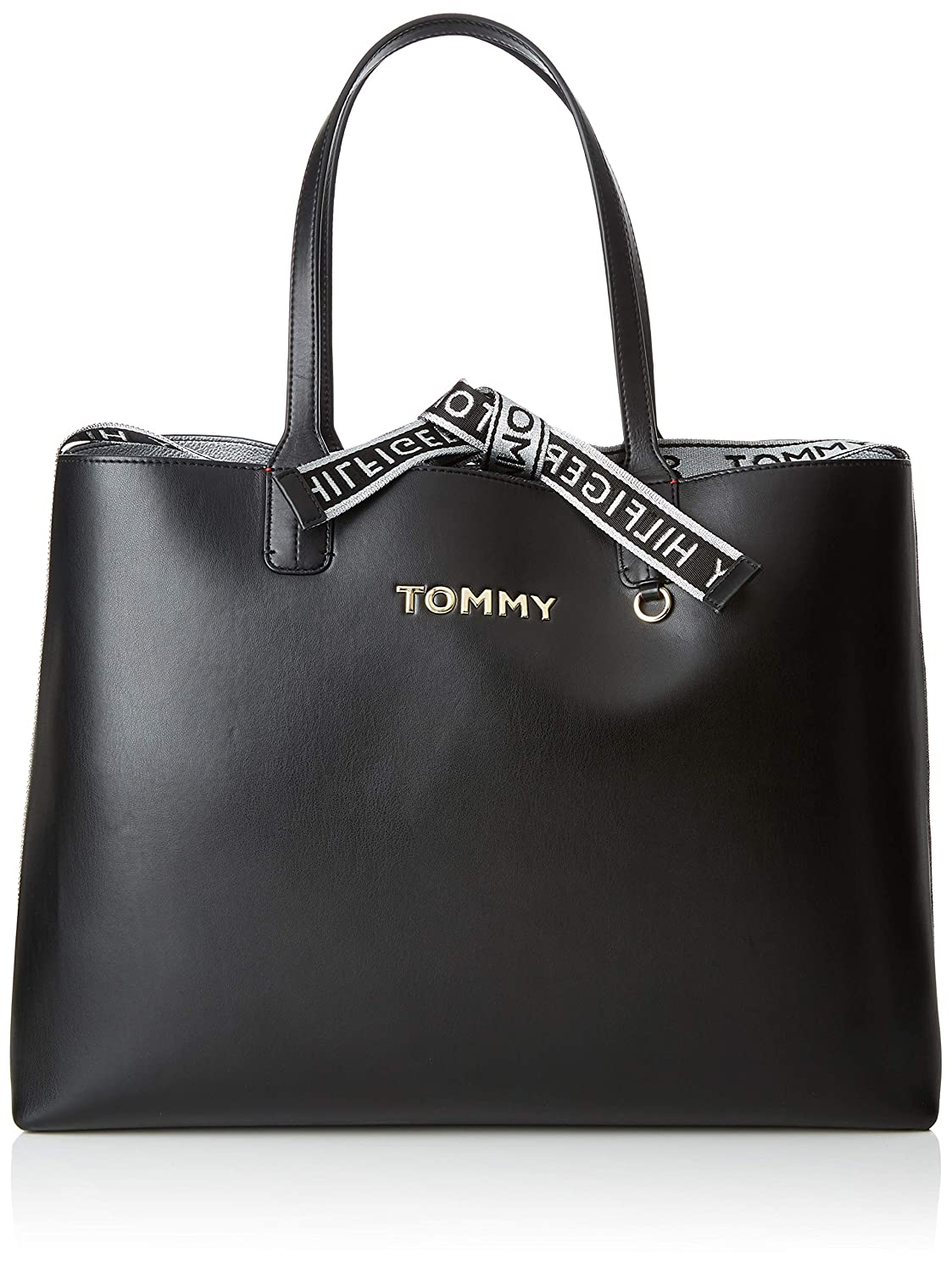 dcc392ee Tommy Hilfiger Iconic Tote, Women's Black, 13x30.5x43 cm (B x H T):  Amazon.co.uk: Shoes & Bags