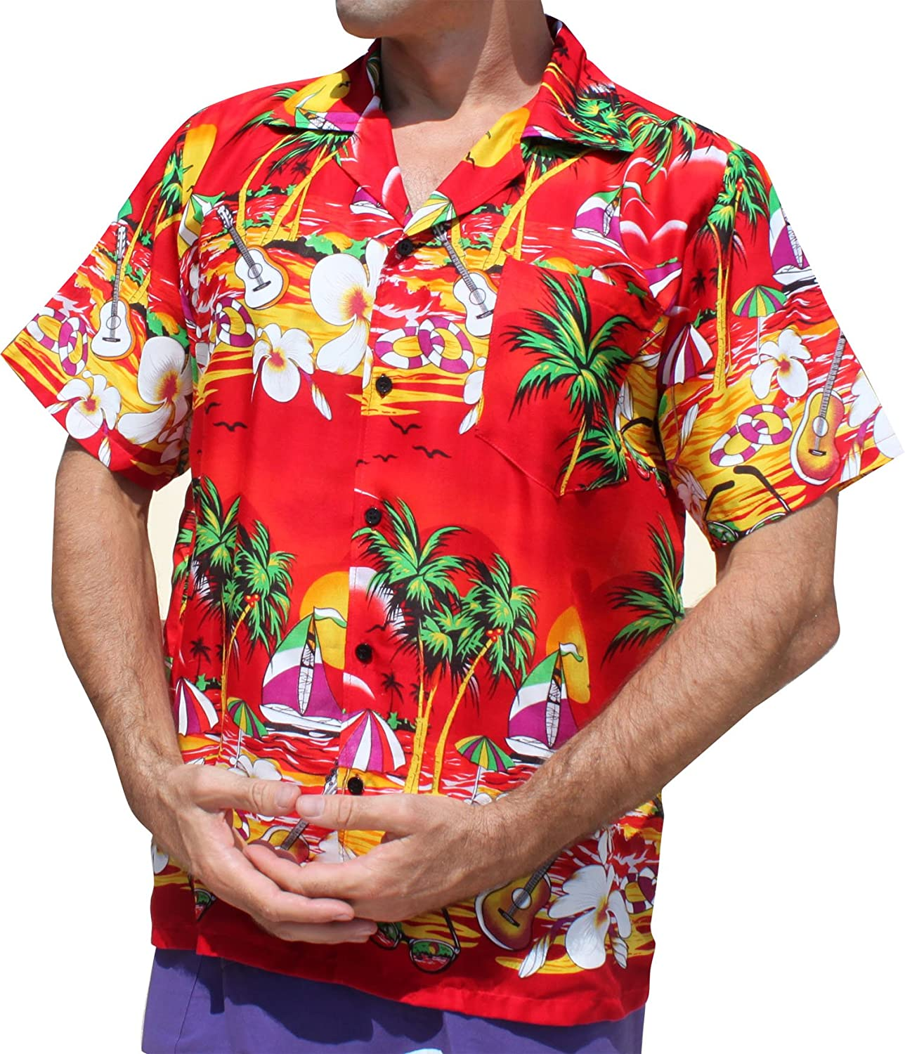 Hawaiian Shirt SeaSide Art Short Sleeve Euro Collar Buttons variant35160AMZ