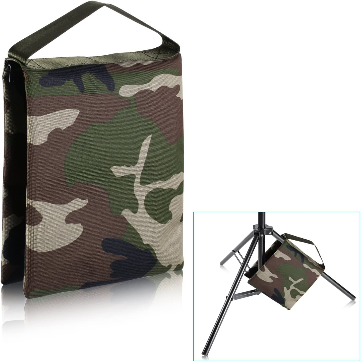 Woodland Camo Tripod Boom Stand Neewer Heavy Duty Photographic Sandbag Studio Video Sand Bag for Light Stands