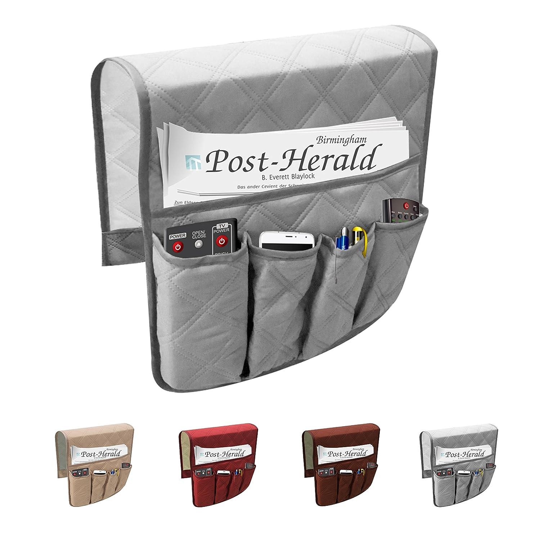 Bolsa multiusos con 6bolsillos para almacenamiento en el sofá, para guardar mando a distancia, soporte organizador e impermeable Newmeil