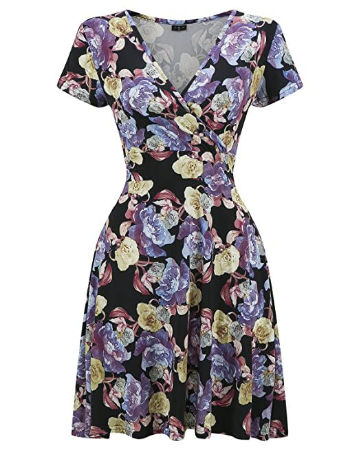 Vestidos vintage 1950s Rockabilly Cóctel Fiesta Pin-up Audrey Retro Cocktail Dress Negro Large
