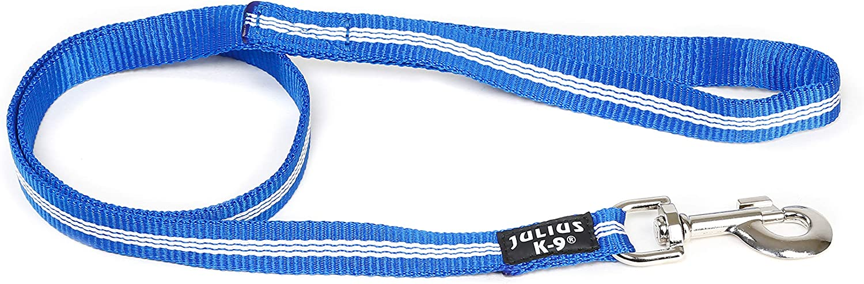Julius-K9 216-NL-1S-B Correa Tubular de IDC con Asa, 1 M x 19 mm, Azul