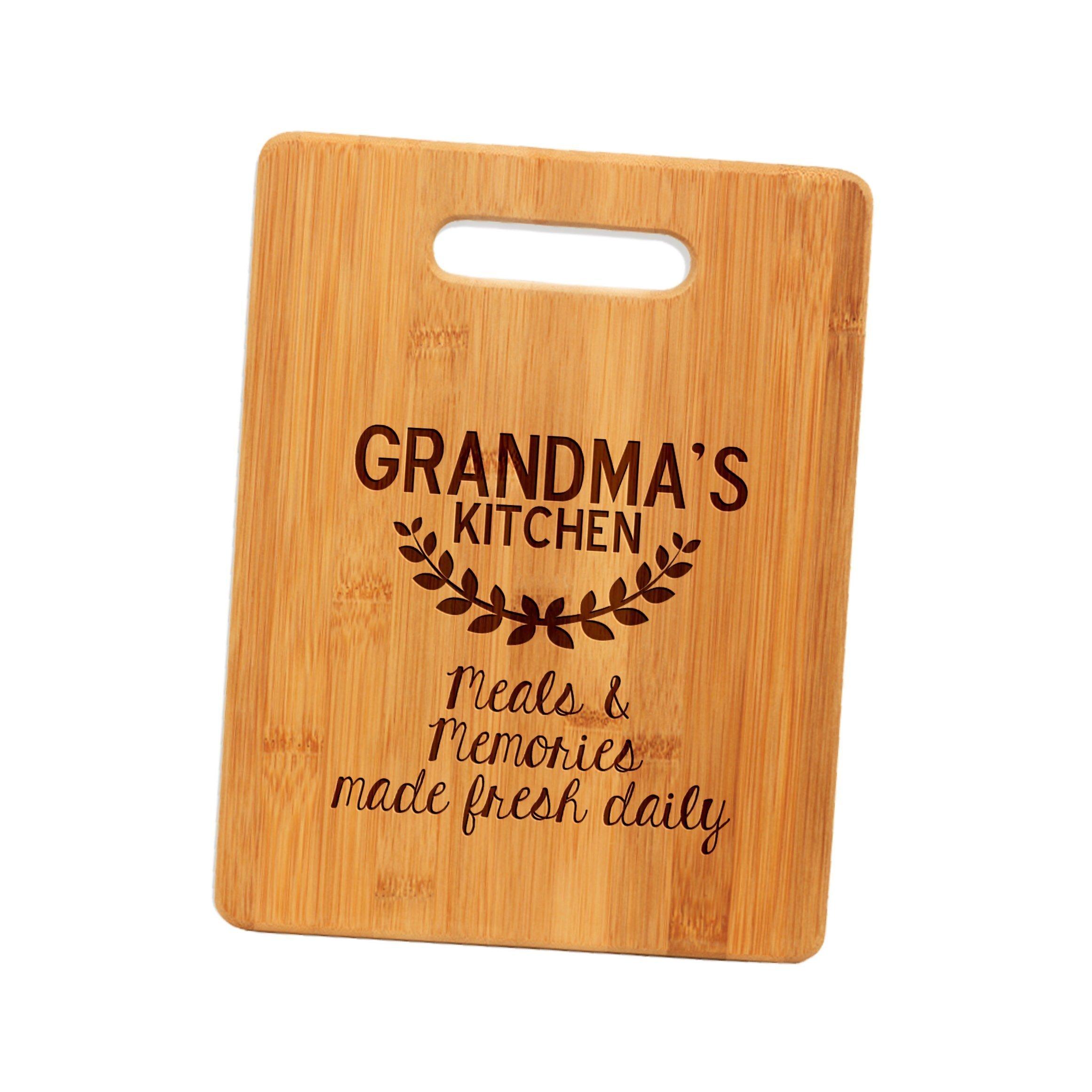Bamboo Cutting Board Gift for Grandma