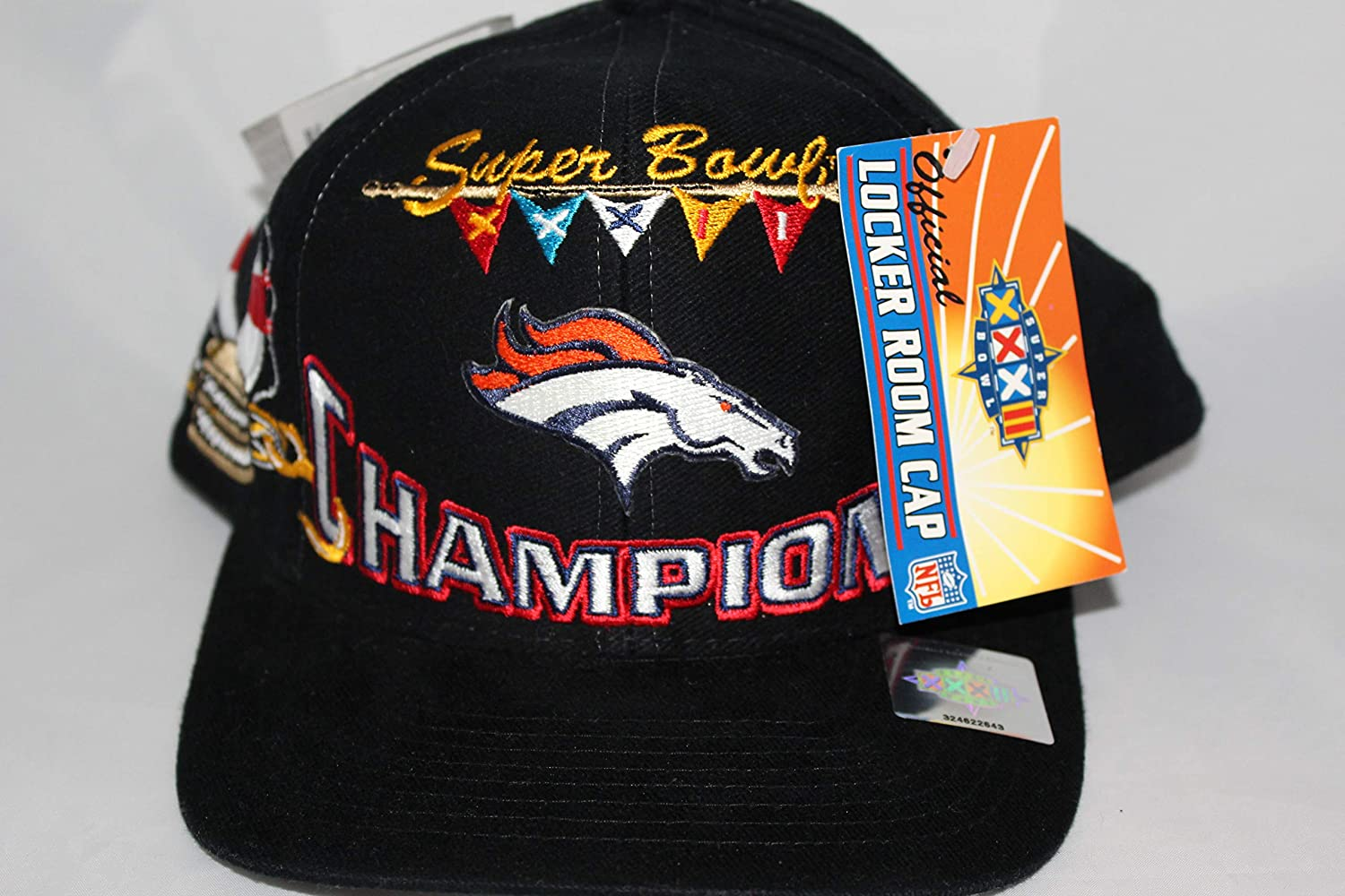Nfl Vintage Collection Denver Broncos Snapback Hat Leather Black And Orange Fan Apparel & Souvenirs