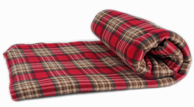Betz Couverture polaire à carreaux, couleur  rouge, taille 150 x 200 cm   Amazon.fr  Cuisine   Maison d373ad47906