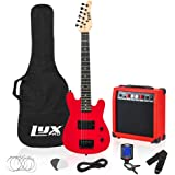 LyxPro 30 Inch Electric Guitar and Starter Kit for Kids with 3/4 Size Beginner's Guitar, Amp, Six Strings, Two Picks, Shoulde