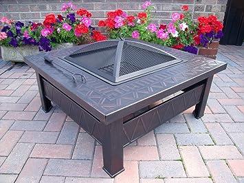 Feuerstelle fur den garten  Tisch-Feuerstelle/-Grill aus Metall für Garten und Terrasse /A ...