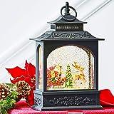 RAZ Imports Santa in Sleigh Water Lantern Lighted