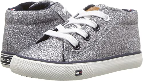 914618ff Tommy Hilfiger Kids Baby Girl's Kimberly 3 (Toddler) Dark Silver 5 M US  Toddler