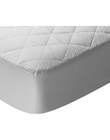 Pikolin Home - Protector de colchón acolchado cubre colchón de fibra, impermeable, antiácaros