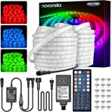 LED Rope Light Outdoor, Novostella 105ft (52.5x2) Waterproof RGB Strip Lights, Color Changing Dimmable Cuttable Tape Lighting